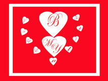 Sea mi tarjeta de la tarjeta del día de San Valentín Imagen de archivo