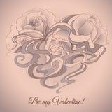 Sea mi tarjeta de la tarjeta del día de San Valentín Fotos de archivo