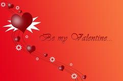 Sea mi tarjeta del día de San Valentín Fotos de archivo libres de regalías