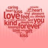 Sea mi tarjeta del día de San Valentín 2 Imágenes de archivo libres de regalías