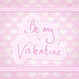 Sea mi tarjeta del día de San Valentín Foto de archivo