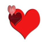 Sea mi tarjeta del día de San Valentín Fotografía de archivo