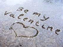 Sea mi tarjeta del día de San Valentín Foto de archivo libre de regalías