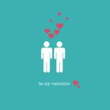 Sea mi tarjeta del día de San Valentín stock de ilustración