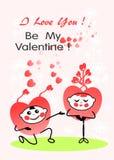 Sea mi tarjeta del día de San Valentín La tarjeta de la tarjeta del día de San Valentín te amo, sea mi tarjeta del día de San Val stock de ilustración