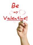 ¡Sea mi tarjeta del día de San Valentín que digo! Foto de archivo
