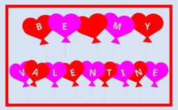 Sea mi Valentine Balloons - para usted con amor libre illustration