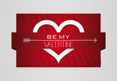 Sea mi Valentine Heart Symbol Card Fotografía de archivo