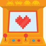 Sea mi vector aislado tarjeta del día de San Valentín retra Imagen de archivo libre de regalías