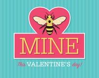 Sea mina Valentine Emblem Foto de archivo libre de regalías