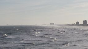 Sea with mini waves. The seaside near Atlantic city New Jersey containing mini waves Stock Photo