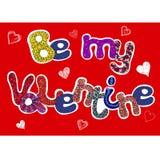Sea mis palabras de la tarjeta del día de San Valentín fijadas Imagen de archivo