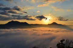 Sea of mist. Amazing in thailand at LOEI royalty free stock images