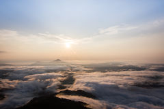 Sea of mist Royalty Free Stock Images
