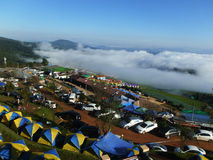 Sea of Mist and  camping at Pu Tab Buek Stock Image