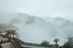 The sea of mist at Chin swee caves temple, Genting highlands Malaysia. Royalty Free Stock Photo