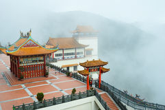 The sea of mist at Chin swee caves temple, Genting highlands Malaysia. The Chin Swee Caves Temple is a Taoist temple in Genting Highlands, Pahang, Malaysia. The Royalty Free Stock Photography