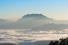 A sea of mist at dawn Royalty Free Stock Images