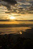 Sea Of Mist With Doi Luang Chiang Dao, View Form Doi Dam in Wianghaeng Stock Photography