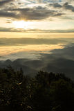 Sea Of Mist With Doi Luang Chiang Dao, View Form Doi Dam in Wianghaeng Royalty Free Stock Images