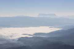 Sea Of Mist With Doi Luang Chiang Dao, View Form Doi Dam in Wianghaeng Stock Images