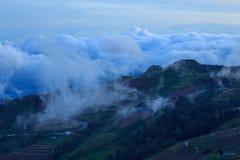 Sea of mist on high mountain Royalty Free Stock Photo
