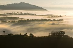 The Sea of Mist at Khao Kho. Shoot at the top of the mountain royalty free stock photo