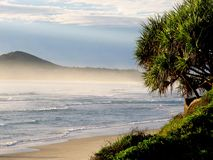 Sea Mist over Byron Bay Stock Image