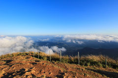 Sea of mist at Phu Chi Fa. A mountain area and national forest park in Thailand,a part of Doi Pha Mon,located at the northeastern end of Phi Pan Nam Range,Thoeng Stock Image