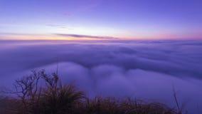 Sea of Mist on Poo Chee Fah ,Chaingrai , Thailand royalty free stock photo