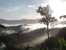 Mist on the viewpoint. Royalty Free Stock Photos