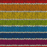 Sea mless pattern with knitted stripes Stock Photos