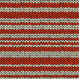 Sea mless pattern with knitted stripes Stock Photography