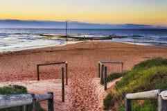 Sea Mona Vale beach entry stock photos
