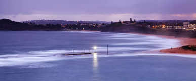 Sea Mona Vale Pool Aerial pan Stock Photography