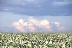 Sea of money or money land Royalty Free Stock Photo