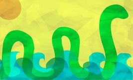 Sea monster Stock Photography