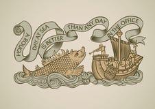 Sea monster design Stock Photos