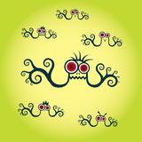 Sea monster illustration Stock Image