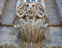 Sea Monster In Pena Palace, Sintra, Portugal. Stone Carving Sea Monster In Pena Palace, Sintra, Portugal Royalty Free Stock Photo