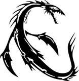 Sea Monster - vector illustration. Vinyl-ready. Royalty Free Stock Photos