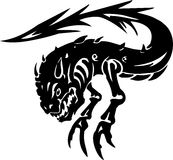 Sea Monster - vector illustration. Vinyl-ready. Stock Images