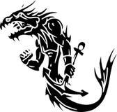 Sea Monster - vector illustration. Vinyl-ready. Royalty Free Stock Image
