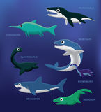 Sea Monsters Cartoon Vector Illustration Stock Photography