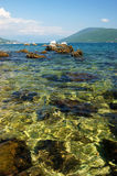 The sea in Montenegro. Clean water Adriatic Sea in Montenegro Royalty Free Stock Photography