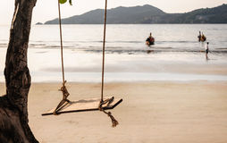 Sea with morning light. Patong beach, Phuket Thailand Royalty Free Stock Photography