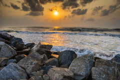 Sea in The Morning Sun Royalty Free Stock Image