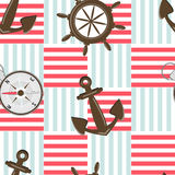 Sea motives seamless pattern Royalty Free Stock Images