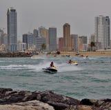 Sea motor boats sport activities Royalty Free Stock Photography