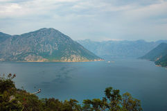 Sea and mountain of Balkans - southern Europe Royalty Free Stock Image
